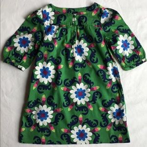 Gap dress size 3T smock style green floral 70's